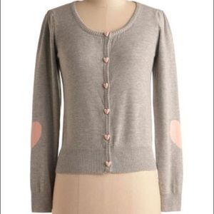 Modcloth Angelababy Grey Gray Cardian Sweater Top